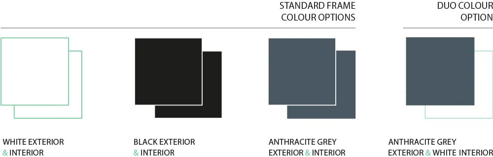 Bi-Fold Colour Options